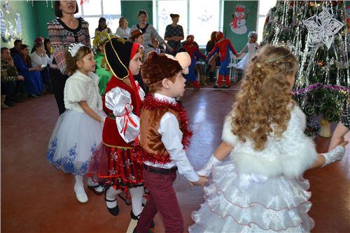 Новогоднее представление в начальной школе.